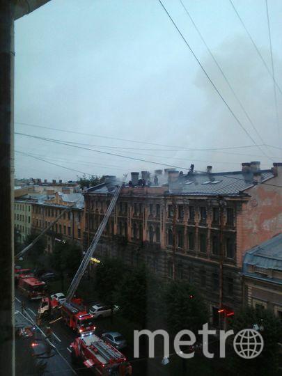 Пожар на Чайковского. Фото vk.com