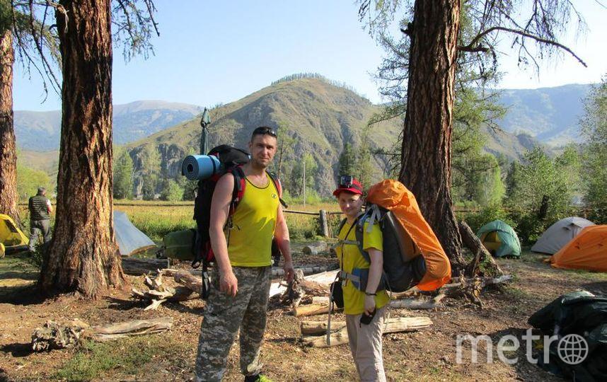 Как я провел это лето. (В начале похода к озеру Ак-Кем респ. Алтай). Екатерина и Вячеслав.