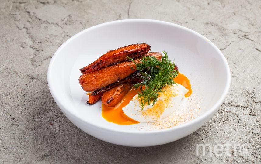 Молодая морковь с йогуртом (ресторан DUO Gastrobar). Фото предоставлено DUOBAND