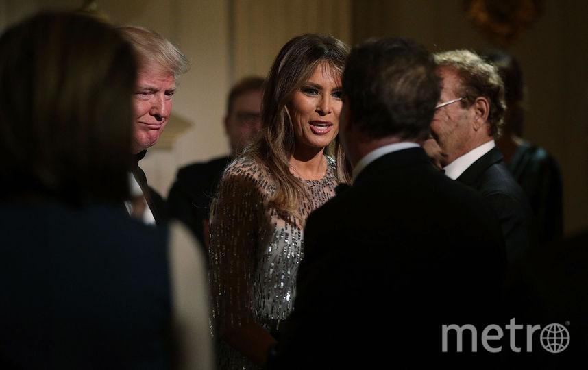 Мелания Трамп и Дональд Трамп на приеме в честь White House Historical Association. Фото Getty