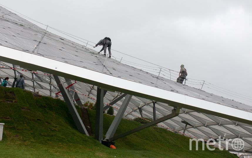Восстановление крыши амфитеатра. Фото Василий Кузьмичёнок