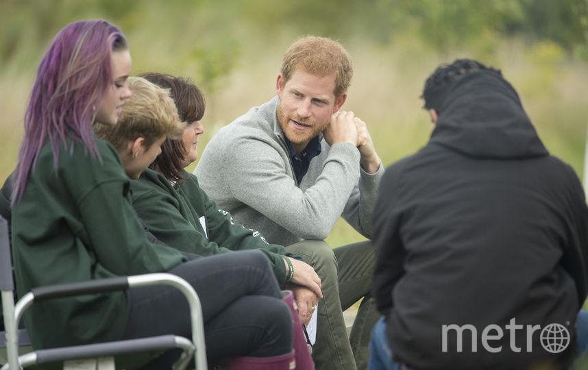 Принц Гарри с подростками в Эссексе. Фото Getty