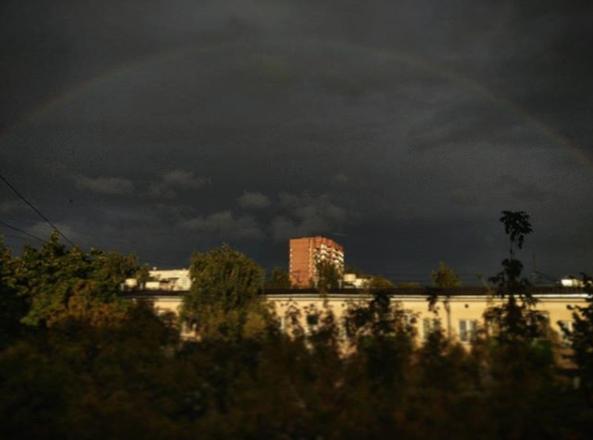 Шторм в Москве. Фото Instagram effykross