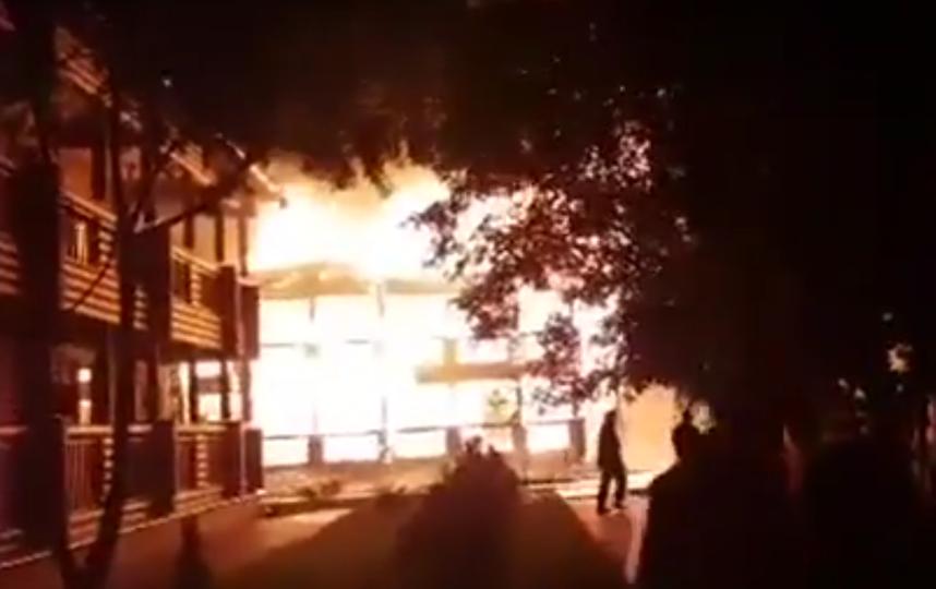 В Одессе горел детский лагерь.