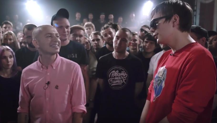 Рэп-баттл между Oxxxymiron и Гнойным. Фото Скриншот YouTube