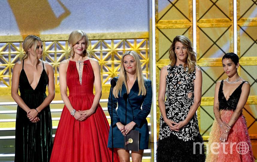 Актрисы во время вручения премии. Рост Николь Кидман - 180 см, Риз Уизерспун - 156. Фото Getty