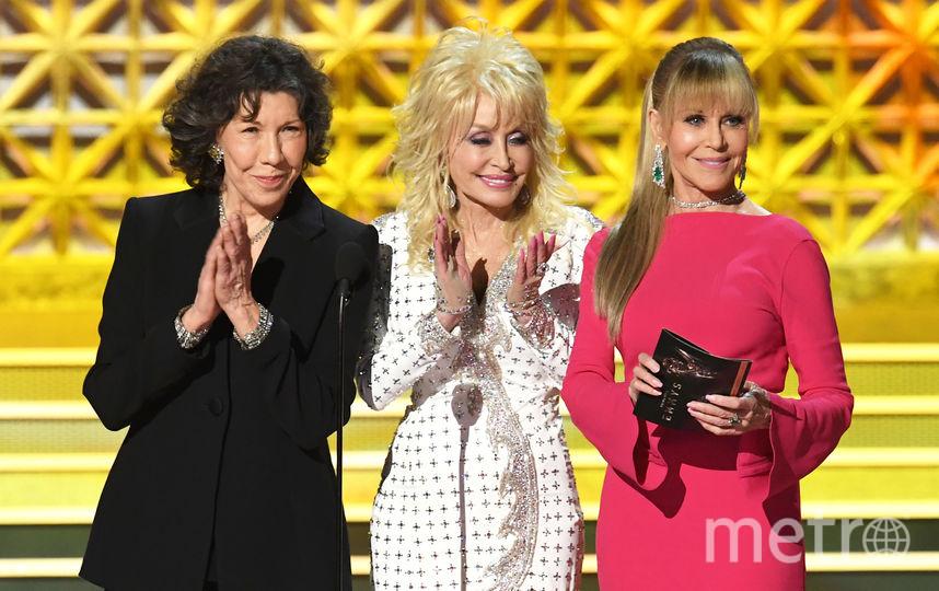 Лили Томлин, Долли Партон и Джейн Фонда. Фото Getty