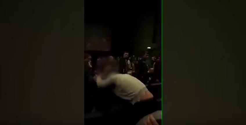 В Выборге зрители устроили драку в кинотеатре: Видео. Фото Скриншот Youtube
