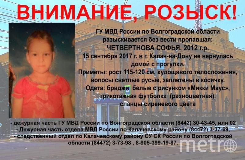 В Волгоградской области пятилетнего ребенка ищут с 15 сентября.
