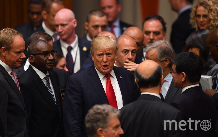 Президент США Дональд Трамп в ООН. Фото AFP