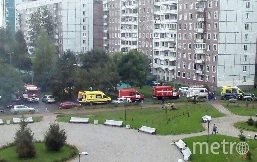 Пожар в жилом доме на ул.Авиаконструкторов вспыхнул утром 19 сентября. Фото vk.com
