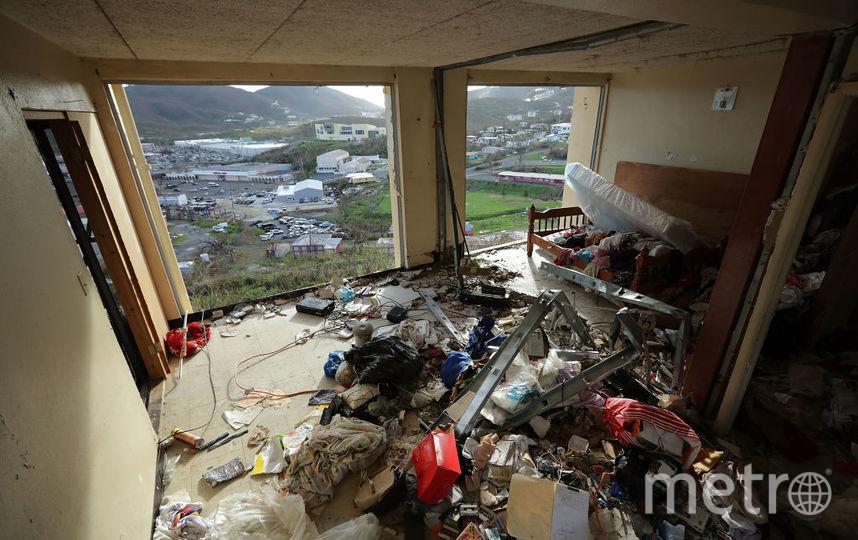 """Последствия урагана """"Ирма"""" на Виргинских островах. Фото Getty"""