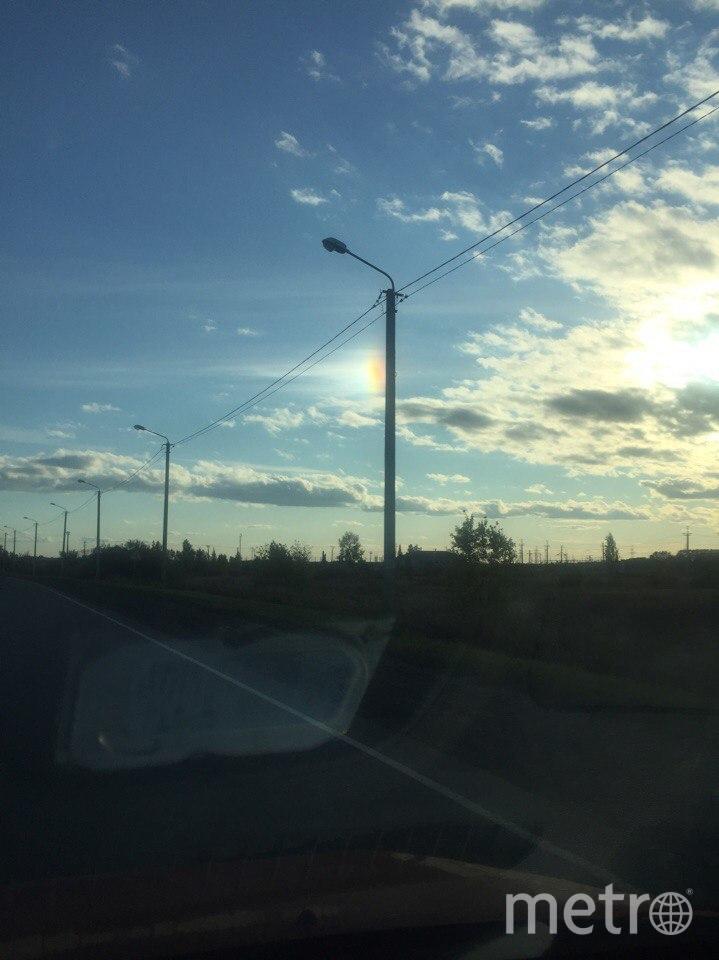 Необычное свечение в небе над Тюменью. Фото Фото предоставлено Владимиром Борцовым.