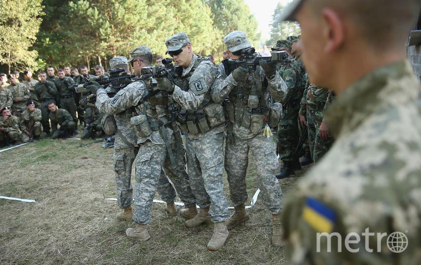 Украинские и американские военные. Фото Getty
