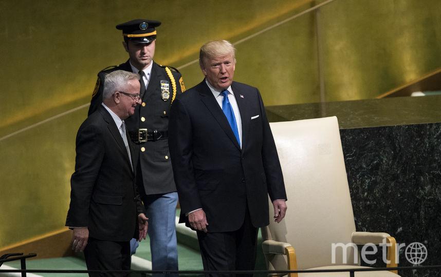 Президент США Дональд Трамп на заседании ГН ООН. Фото AFP