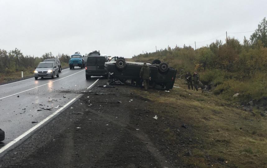 Фото из соцсетей с места аварии. Фото Мурманск  ДТП ЧП