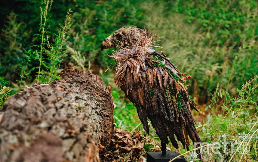 Гриф из коры дерева. Фото Предоставлено организаторами выставки.