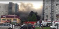 Серьезный пожар в магазине автозапчастей напугал жителей на севере Петербурга