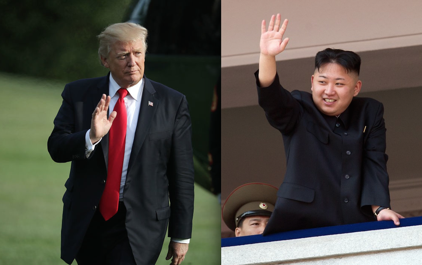 Дональд Трамп и Ким Чен Ын. Фото Getty