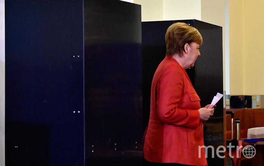 Ангела Меркель проголосовала на выборах. Фото AFP