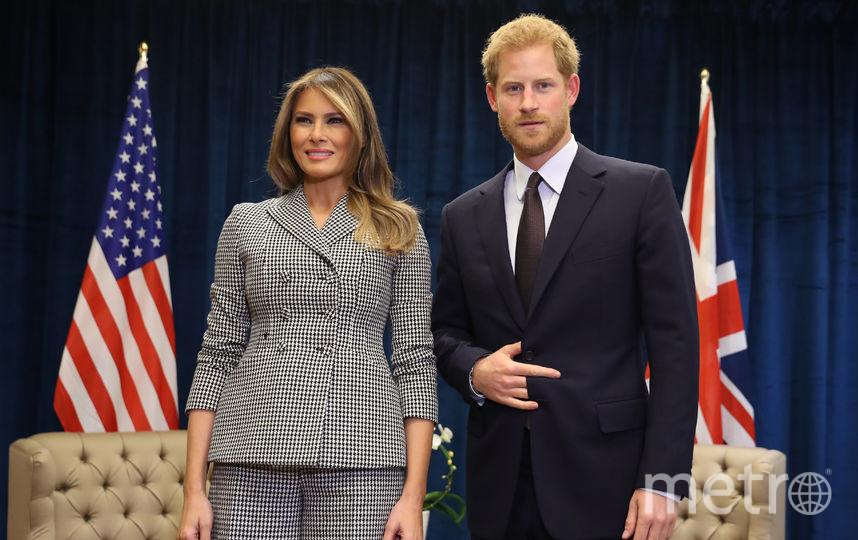 Мелания Трамп и принц Гарри. Фото Getty
