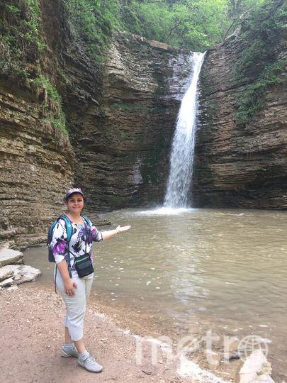 """Чтобы добраться до этого водопада, нужно было пройти много сложных мест, едва удерживаясь за камни. Фото Полина Плотникова, """"Metro"""""""