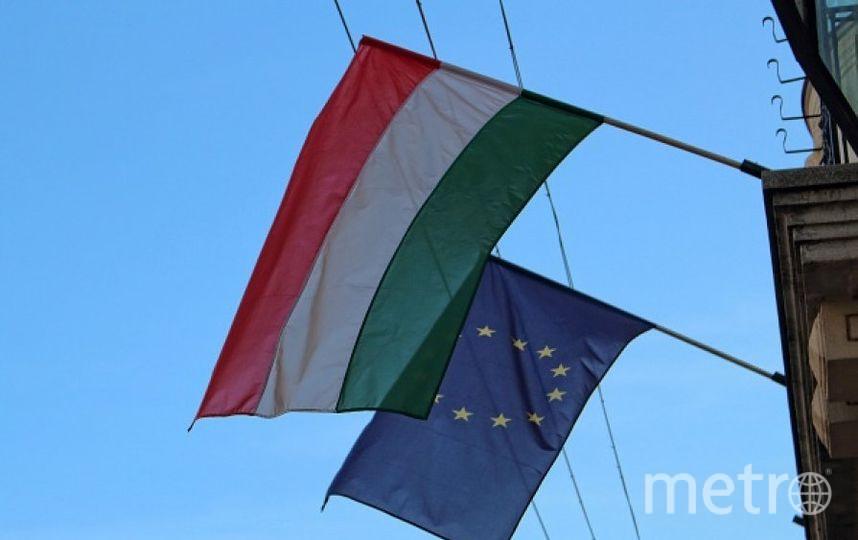 Флаги Венгрии и ЕС. Фото Getty