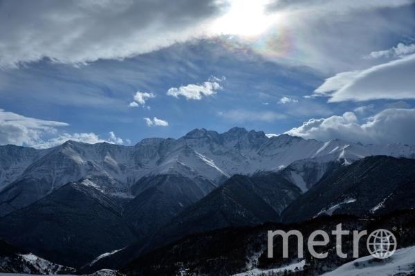 Горная гряда большого Кавказского хребта в Джейрахском районе Ингушетии. Фото РИА Новости