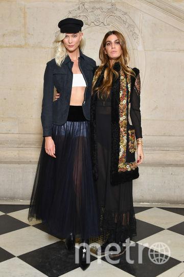 Шоу Dior. Карли Клосс. Фото Getty