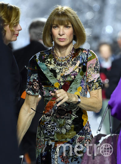 Шоу Dior. Анна Винтур. Фото Getty