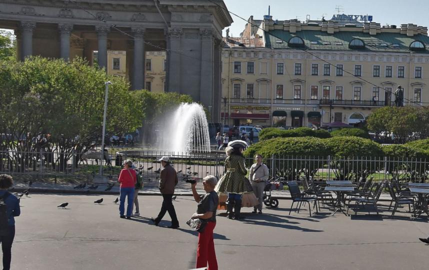 ВПетербурге фонтаны ушли назимние каникулы