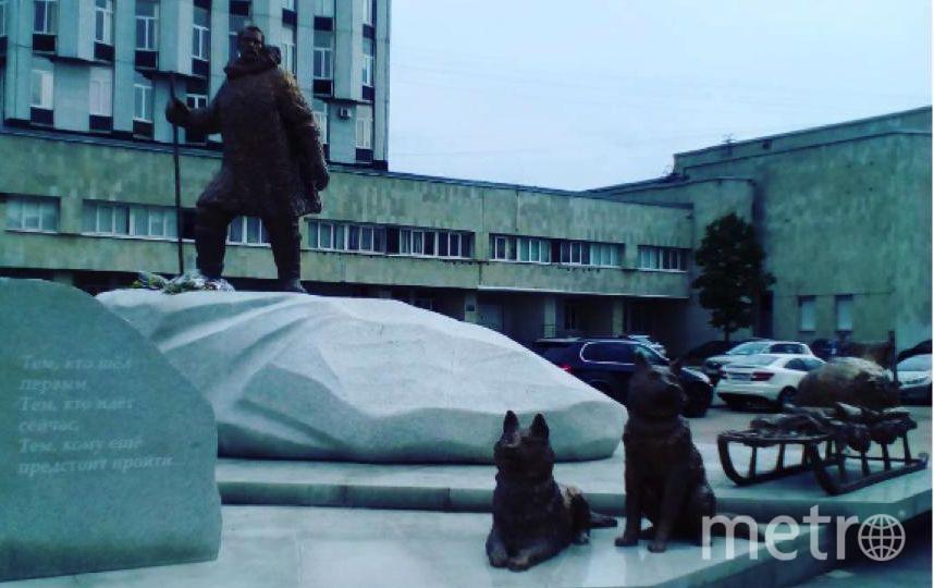 Петербуржцы с удовольствием делают фото у памятника полярникам. Фото https://www.instagram.com/plaziy/