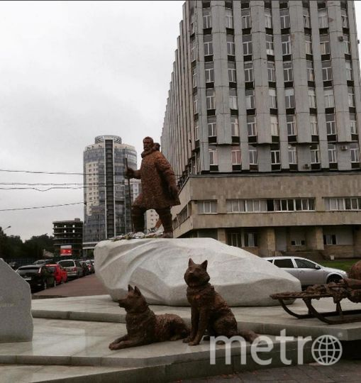 Петербуржцы с удовольствием делают фото у памятника полярникам. Фото https://www.instagram.com/iren_tatar/