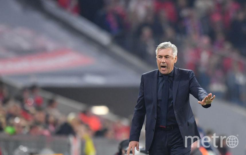 Итальянский тренер, трёхкратный обладатель Лиги чемпионов Карло Анчелотти. Фото Getty