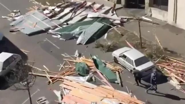 Последствия стихии. Фото Instagram @nvrsk_road