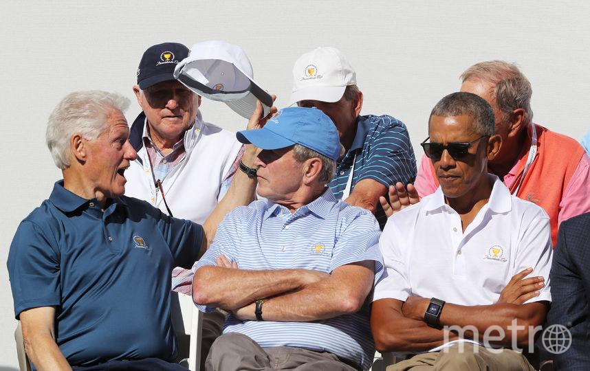Барак Обама, Билл Клинтон и Джордж Буш-младший. Фото Getty