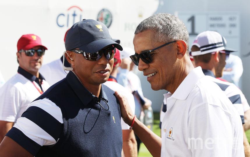 Барак Обама и Тайгер Вудс. Фото Getty