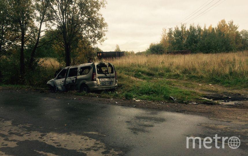 В Красном Селе такси на всей скорости врезалось в иномарку. Фото vk.com/krasnoe_selo