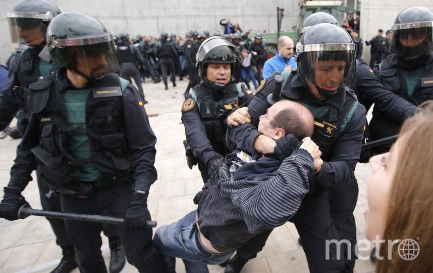 Столкновения с полицией. Фото AFP