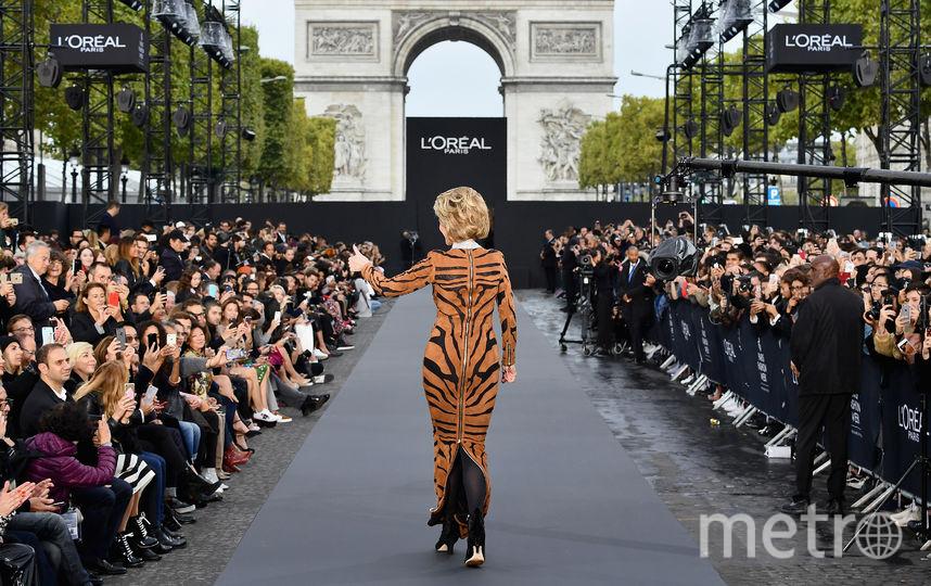 Джейн Фонда в леопардовом платье. Фото Getty