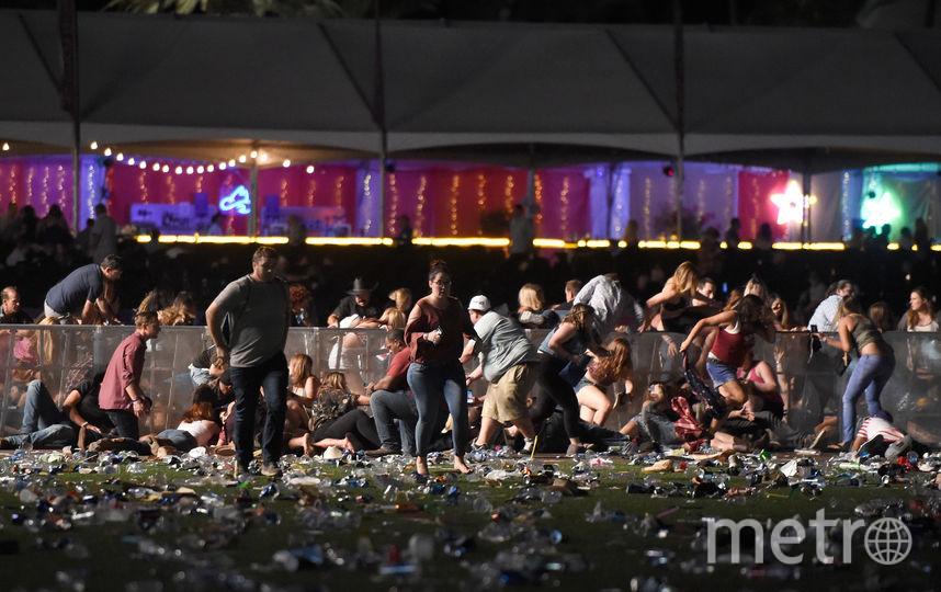 фото с места трагедии. Стрельба произошла во время фестиваля кантри-музыки. Фото Getty