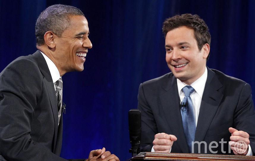 Джимми Фэллон и Барак Обама. Фото Getty