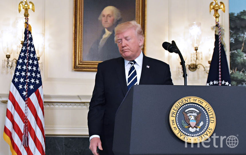 Президент США Дональд Трамп выразил соболезнования в связи с расстрелом людей у казино в Лас-Вегасе. Фото AFP