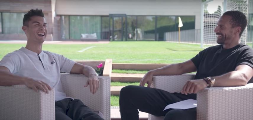 Футболисты вместе играли за «МЮ». Фото скриншот с видео Nike Football, Скриншот Youtube