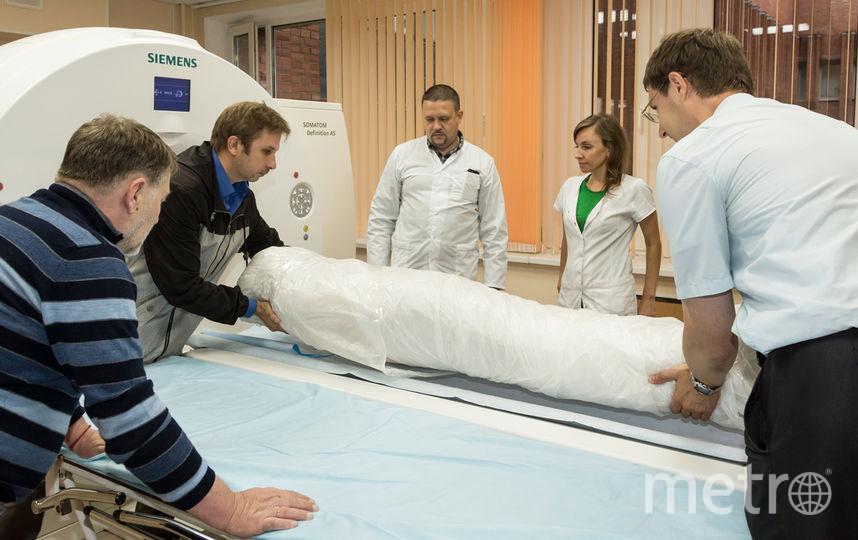 В Петербурге завершились исследование древнеегипетской мумии. Фото предоставлено пресс-службой Эрмитажа.