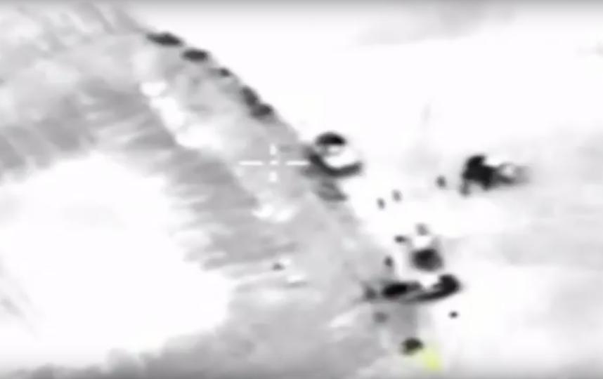 "Уничтожение боевиков ""Джебхат-ан-Нусры"". Фото Скриншот Youtube"