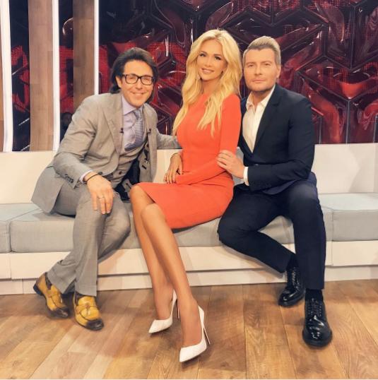 Виктория Лопырёва с Николаем Басковым и Андреем Малаховым. Фото Instagram Виктории Лопырёвой.