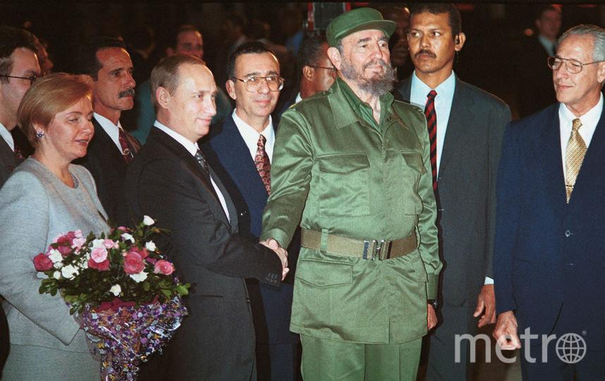 С лидером Кубы Фиделем Кастро в 2000 году. Фото Getty