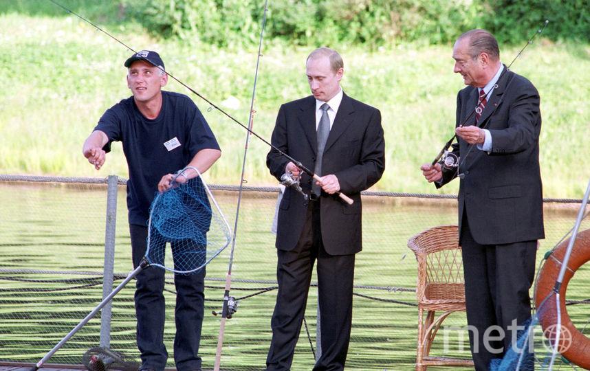 Владимир Путин и находящийся с визитом в РФ французский коллега Жак Ширак, 2001 год. Фото Getty