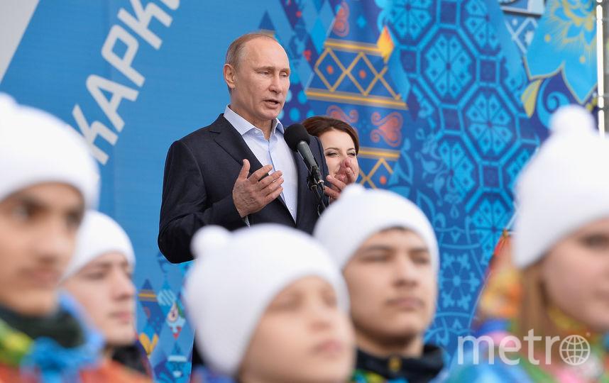 На открытии Олимпийских игр в Сочи, 2014 год. Фото Getty